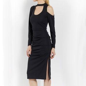 Stretchy Matte Jersey Scoop Keyhole dress